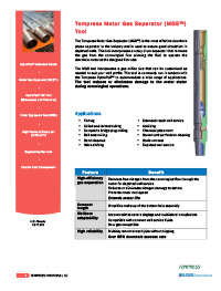 Download MGS™ Downhole Phase Separation Specifications & Information PDF: